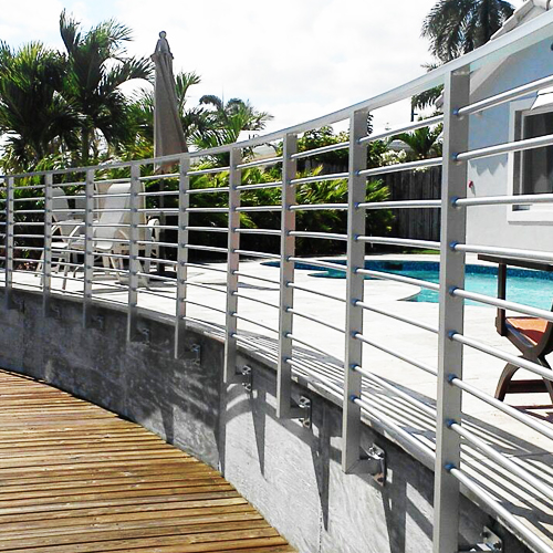 Custom welded aluminum and steel fencing, railing and gates in South Florida